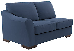 Bantry Nuvella® 5-Piece Sectional with Chaise and Sleeper, Indigo, large