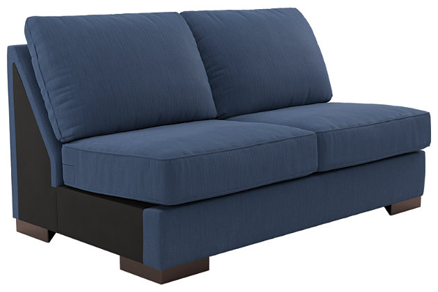 Bantry Nuvella® 4-Piece Sectional with Chaise and Sleeper, Indigo, large