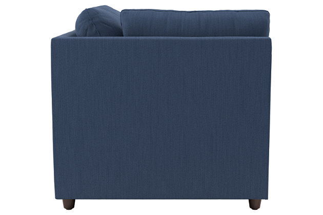 Bantry Nuvella® 4-Piece Sectional with Chaise, Indigo, large
