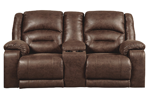 Carrarse Power Reclining Loveseat with Console, , large