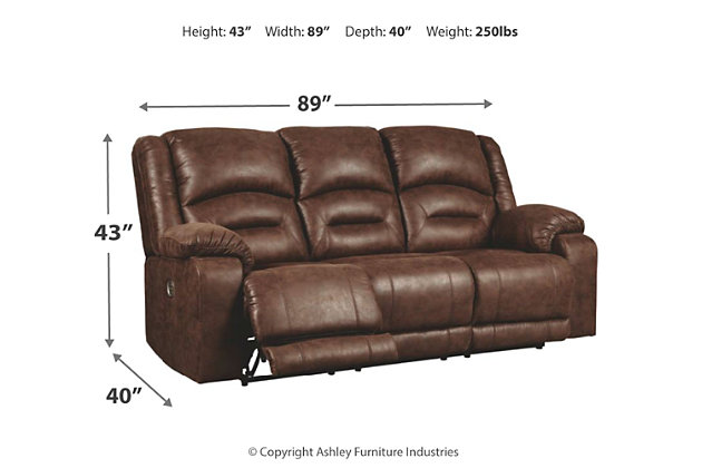 Enjoyable Carrarse Power Reclining Sofa Ashley Furniture Homestore Uwap Interior Chair Design Uwaporg
