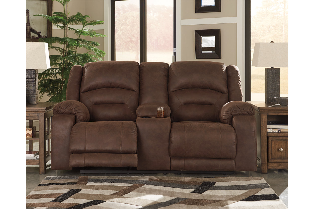 Enjoyable Carrarse Power Reclining Loveseat With Console Ashley Ibusinesslaw Wood Chair Design Ideas Ibusinesslaworg