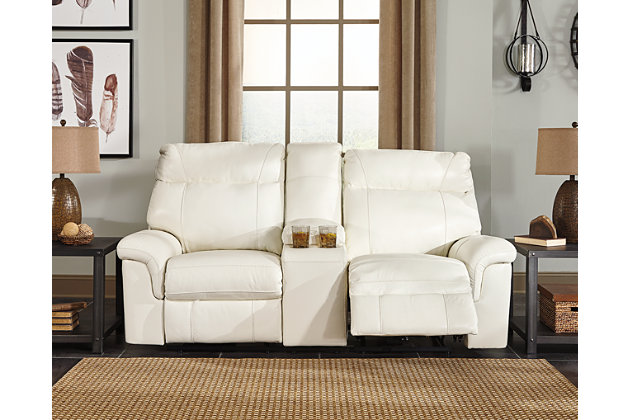 Whiteville Power Reclining Loveseat with Console, , large