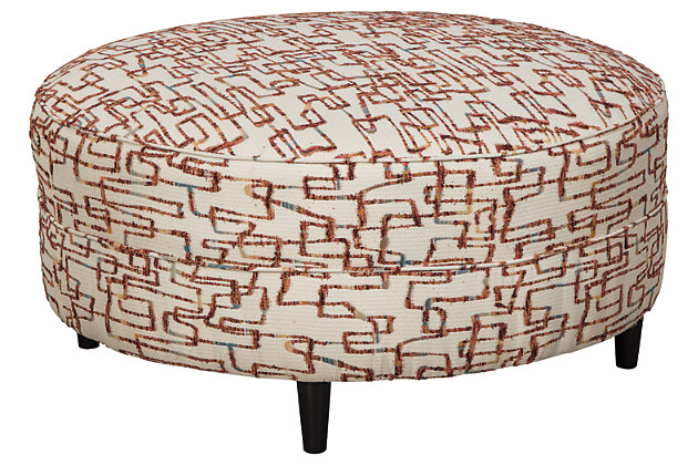 Amici Oversized Accent Ottoman, , large