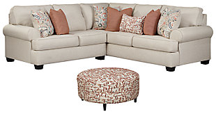 Amici 2-Piece Sectional with Ottoman, , large