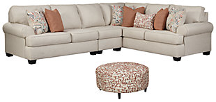 Amici 3-Piece Sectional with Ottoman, , large