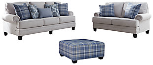 Reevesville Sofa, Loveseat and Ottoman, , large