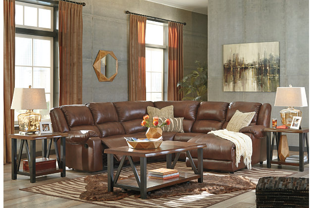 Billwedge 5-Piece Reclining Sectional with Chaise, , large