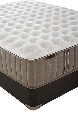 Stearns & Foster Nickeline Luxury Cushion Firm Queen Mattress, White/Gray, rollover
