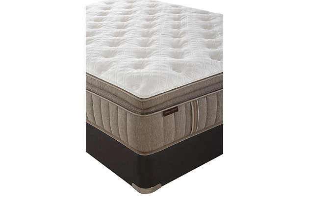 Stearns & Foster Nickeline Luxury Cushion Firm Pillow Top Queen Mattress, White/Gray, large
