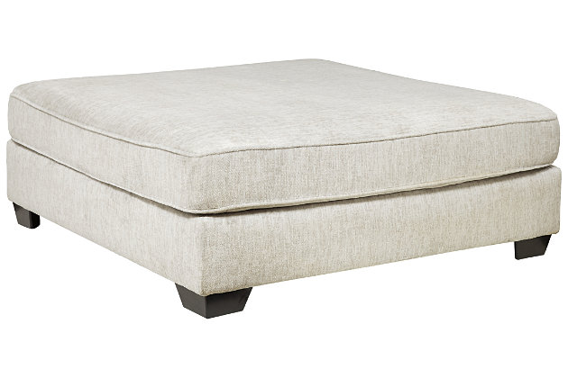 Rawcliffe Oversized Accent Ottoman, , large
