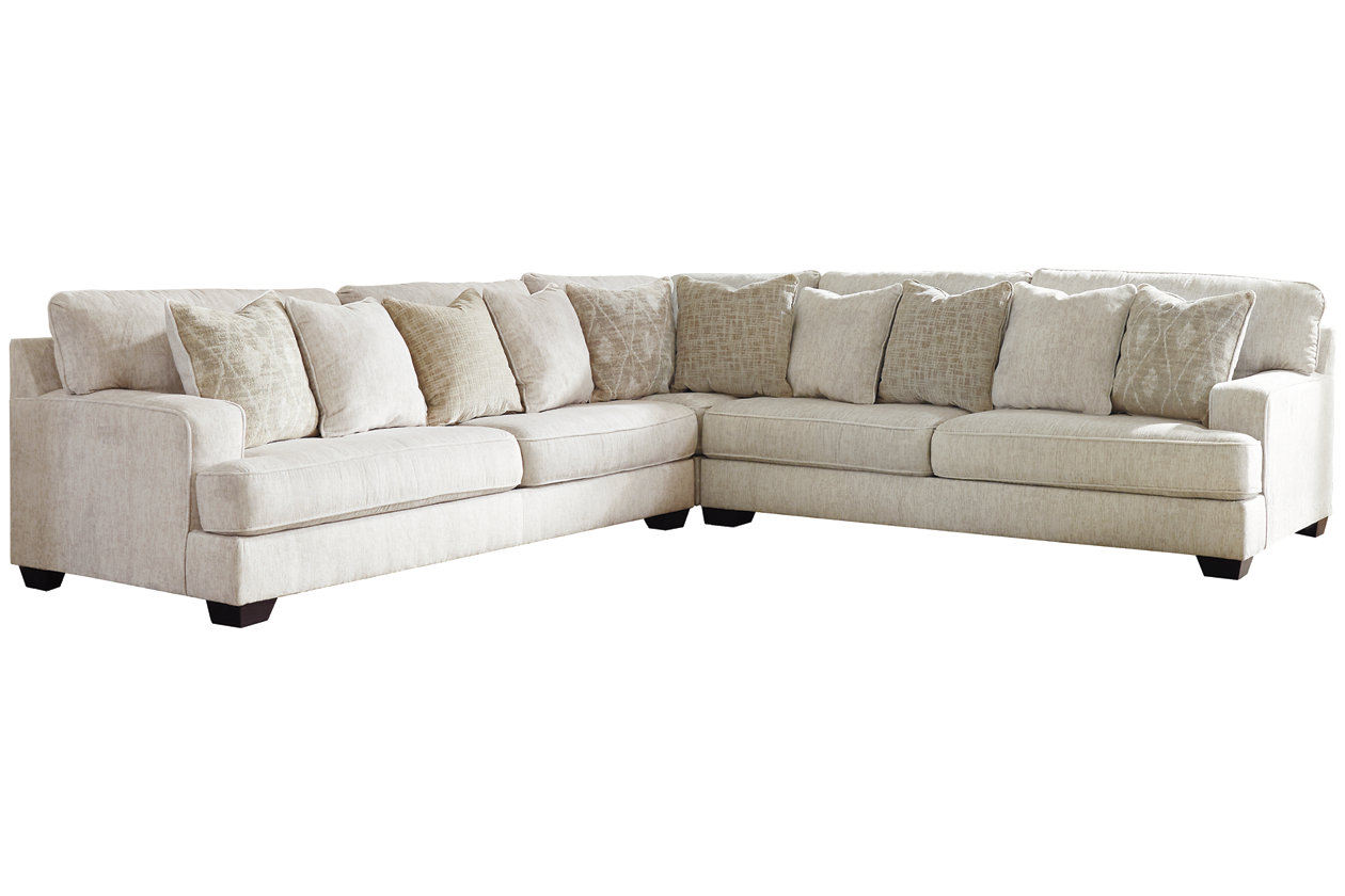 Rawcliffe 3 Piece Sectional With Ottoman Ashley Furniture Homestore