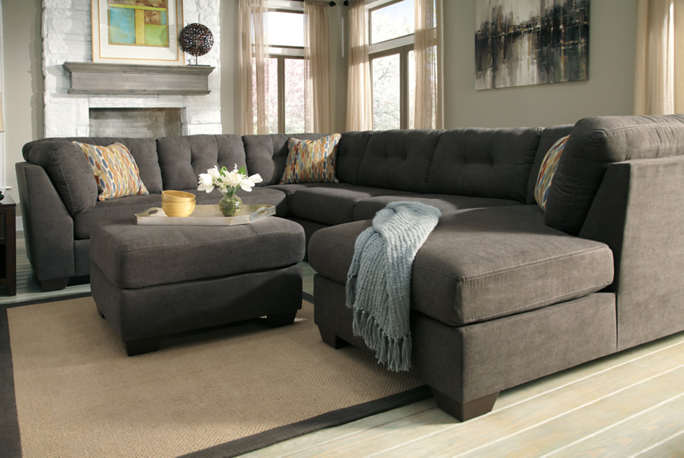 delta city couch armless love seat corner chaise and oversized ottoman in a