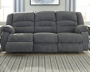 Athlone Power Reclining Sofa, Charcoal, rollover
