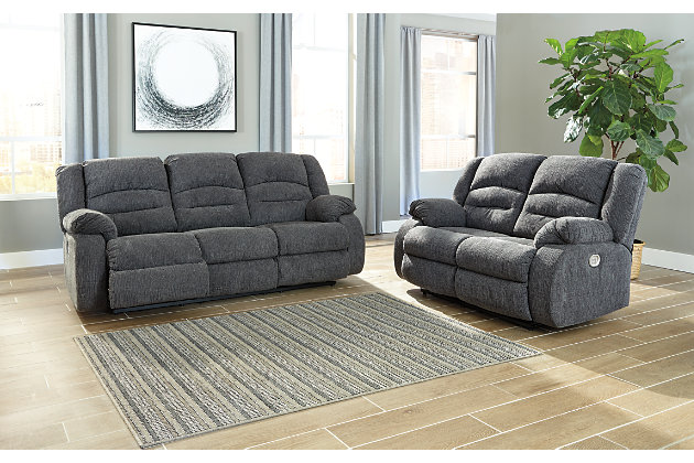 Athlone Power Reclining Loveseat, , large