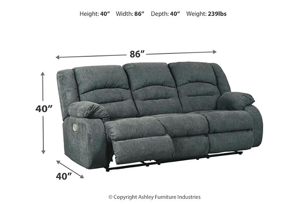 Athlone Power Reclining Sofa Ashley Furniture Homestore