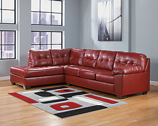 Alliston 2-Piece Sectional with Chaise, Salsa, rollover