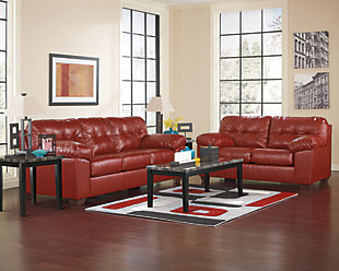 Alliston Loveseat, Salsa, large