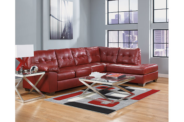 Alliston 2-Piece Sectional with Chaise, Salsa, large