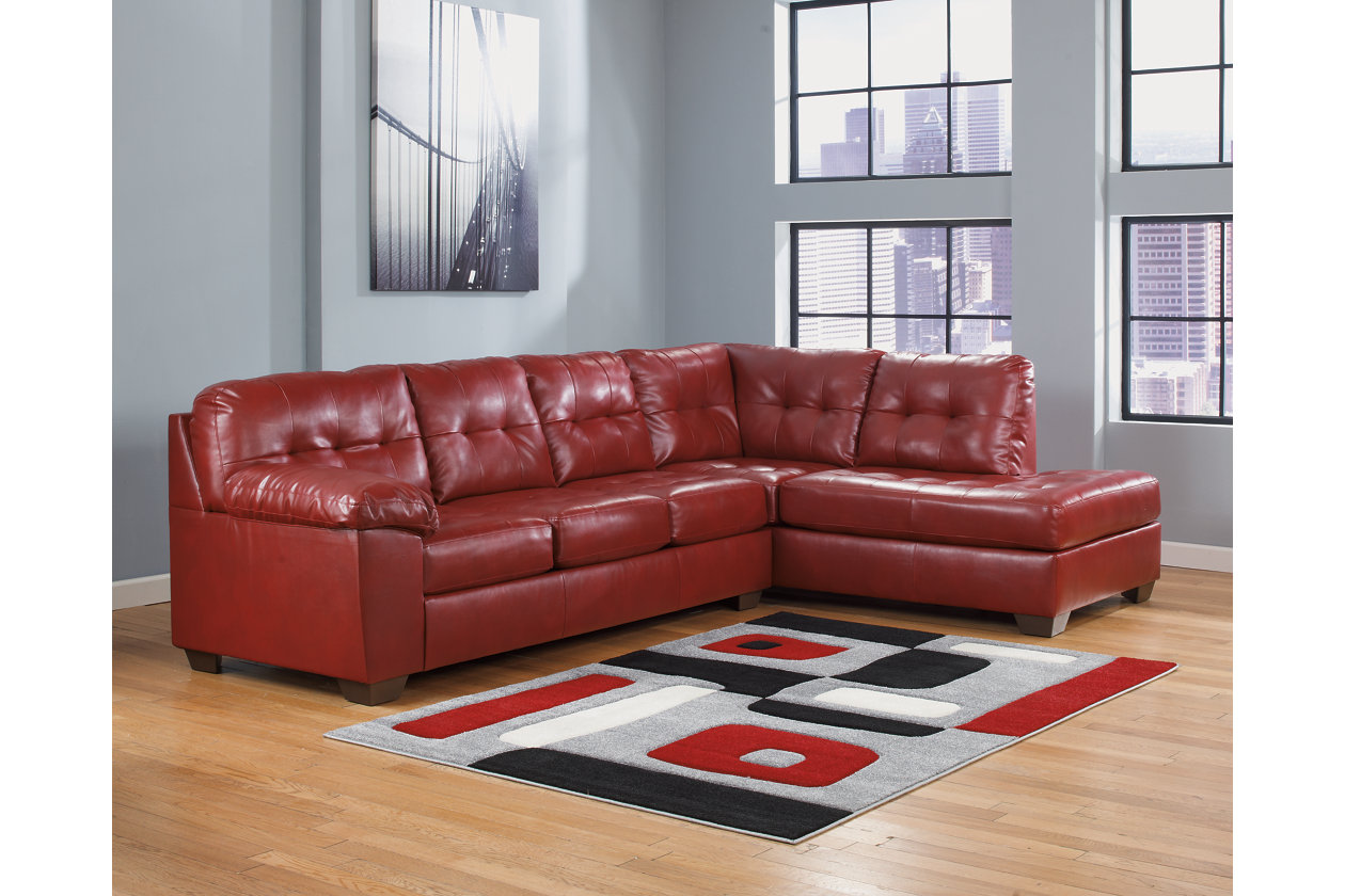 Stupendous Alliston 2 Piece Sectional With Chaise Ashley Furniture Bralicious Painted Fabric Chair Ideas Braliciousco