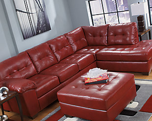 Alliston 2 Piece Sectional With Chaise Salsa Large