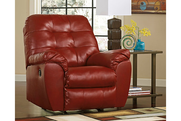 Alliston DuraBlend ® Recliner by Ashley HomeStore, Red, L...