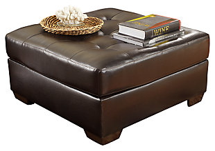 Alliston Ottoman, Chocolate, large