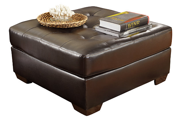 Brown Alliston DuraBlend® Ottoman by Ashley HomeStore