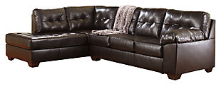 Alliston 2-Piece Sectional with Chaise, Chocolate, large