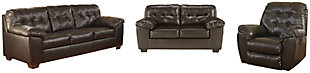 Alliston Sofa, Loveseat and Recliner, Chocolate, large