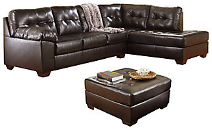 Alliston 2-Piece Sectional with Ottoman, Chocolate, large
