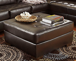 Alliston Ottoman, Chocolate, rollover