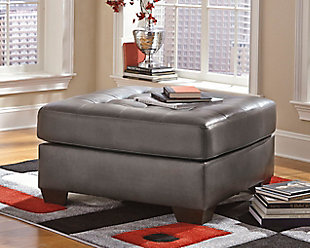 Alliston Ottoman, Gray, large
