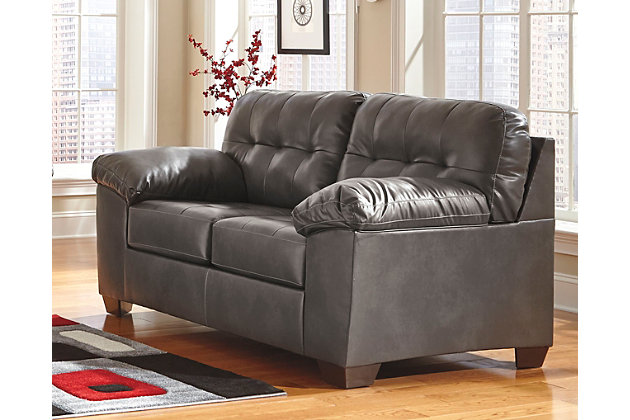 Alliston Loveseat, Gray, large