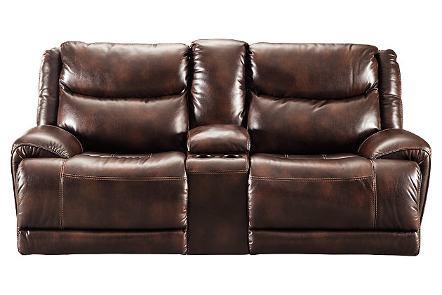 Blairstown Power Reclining Loveseat with Console, , large