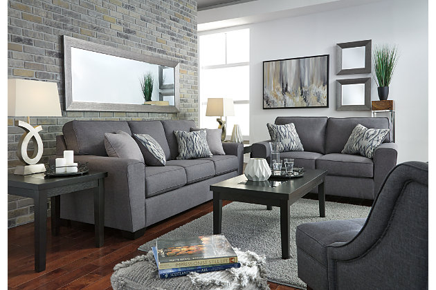 gunmetal calion sofa view 5