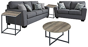 Calion Sofa and Loveseat with Coffee Table and 2 End Tables, , large