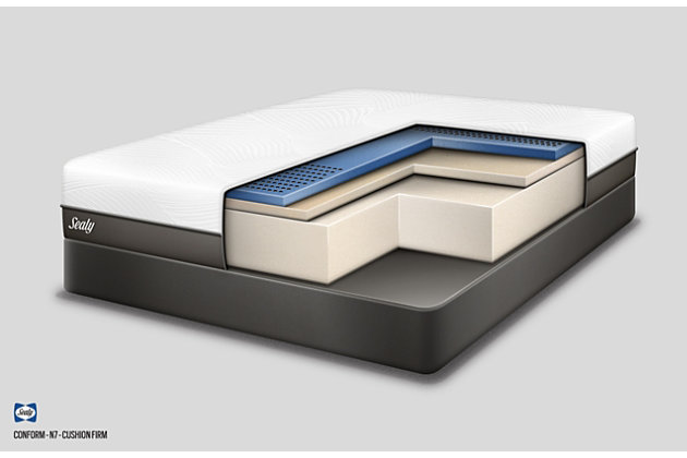 Sealy Fondness Firm Foam Full Mattress, White, large