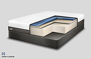 Sealy Fondness Firm Foam Queen Mattress, White, large