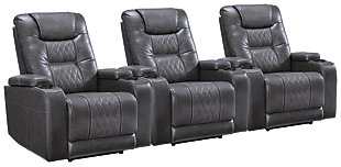 Composer 3-Piece Home Theater Seating, Gray, large