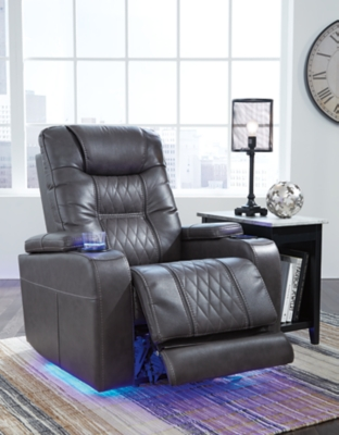 Composer Power Recliner, Gray, large