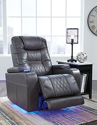 Composer Power Recliner, Gray, rollover