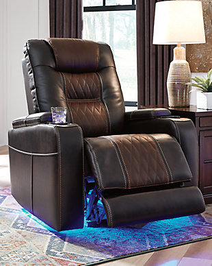 Composer Power Recliner, Brown, large