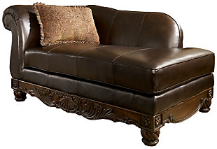 North Shore Chaise, Dark Brown, large