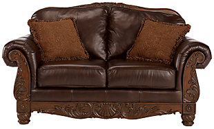 North Shore Loveseat, Dark Brown, large
