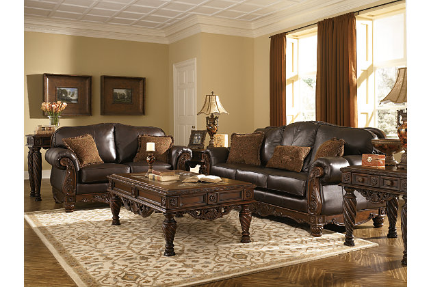 ... North Shore Sofa, Dark Brown, Large ...