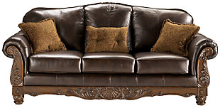 North Shore Sofa, Dark Brown, large