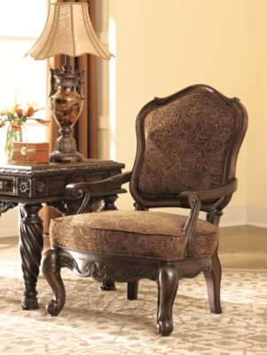 Ashley North Shore Accent Chair, Dark Brown