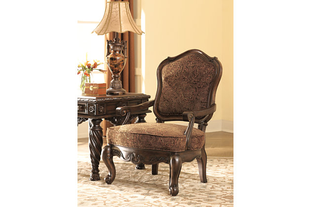 North Shore Accent Chair, Dark Brown, large