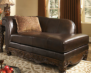 North Shore Chaise, Dark Brown, rollover